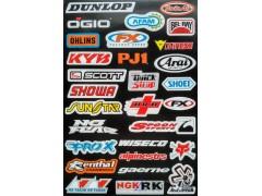 Наклейки виниловые на мотоцикл лист 50*30 см (А3) B019 Dunlop Ogio