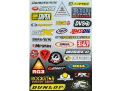 Наклейки виниловые на мотоцикл лист 50*30 см (А3) B055 Bridgestone Dunlop