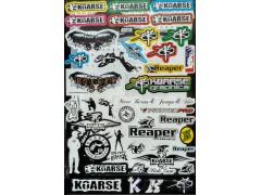 Наклейки виниловые на мотоцикл лист 50*30 см (А3) B066 Koarse
