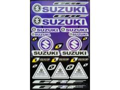Наклейки виниловые на мотоцикл лист 50*30 см (А3) B044 Suzuki blue