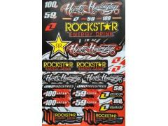 Наклейки виниловые на мотоцикл лист 50*30 см (А3) B008 Rockstar yellow
