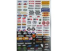 Наклейки виниловые на мотоцикл лист 50*30 см (А3) B015 Shoei brands