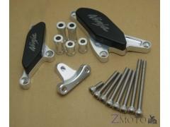 Слайдеры на двигатель Kawasaki ZX-10R 08-10 с подушками серебряный