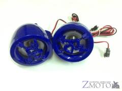 "Колонки 2,5"" для мотоцикла, скутера, квадроцикла без усилителя синие"