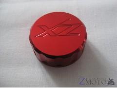 Крышка тормозного бачка скутера круглая 35 мм красная ZX