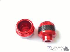 Головки слайдеров CNC красные с карбоном